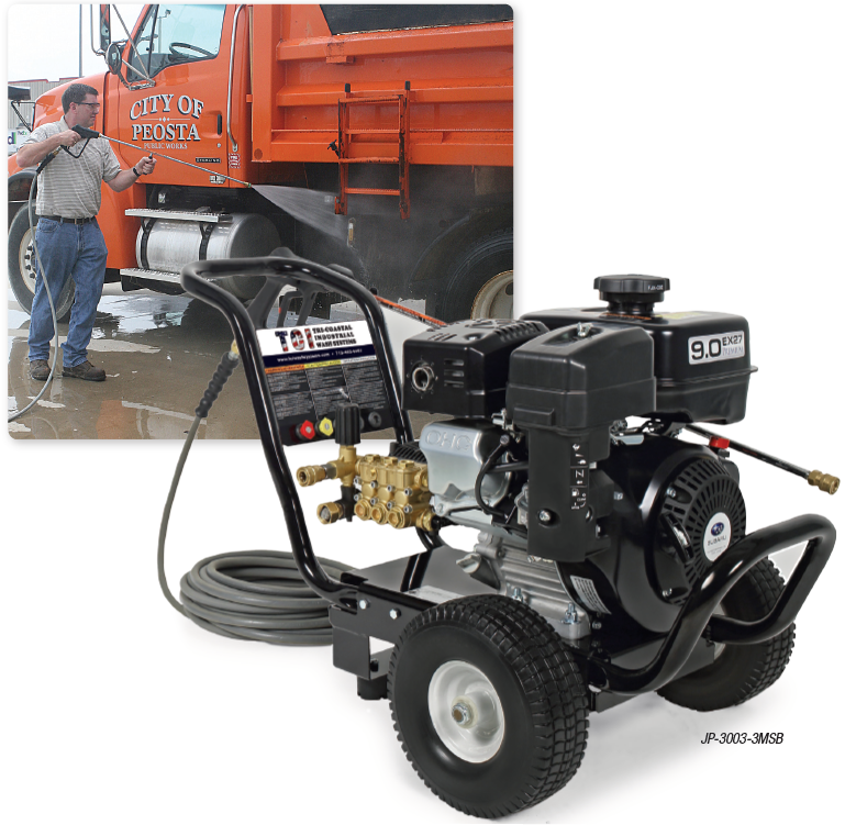 JP Series Gasoline Direct Drive COLD WATER PRESSURE WASHERS