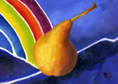 """End Of The Rainbow - 5""""x7"""" Oil on Canvas Panel"""