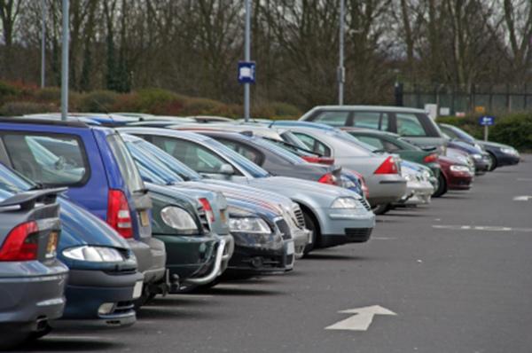 Car park in winter