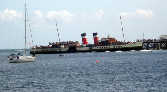 The Waverly Steamer at the pier