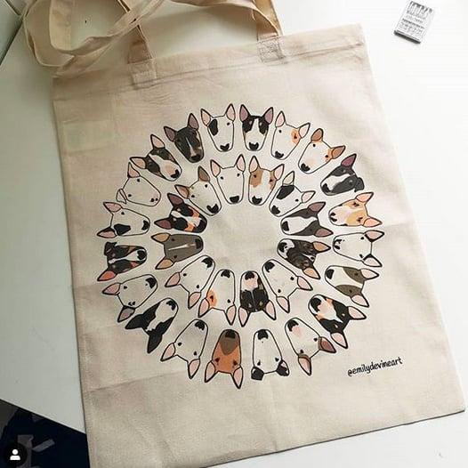 Bully Circle Tote Bag
