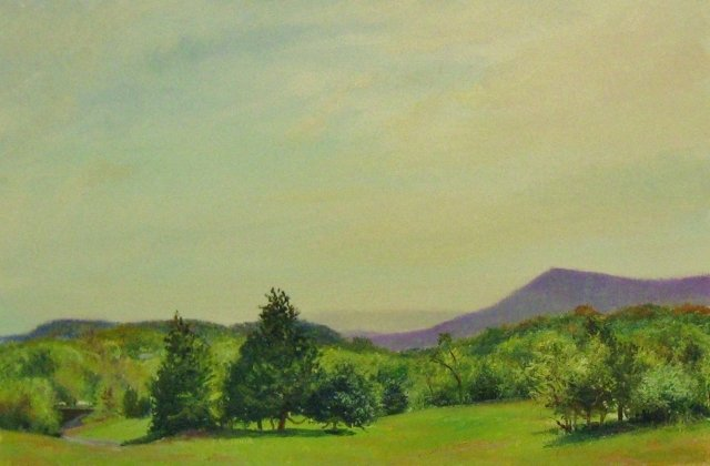 26. SOLD Fishers Hill Landscape, 8x12 oil on panel
