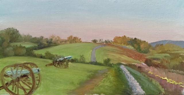 59. Antietam Battlefield, 4x8 oil on panel
