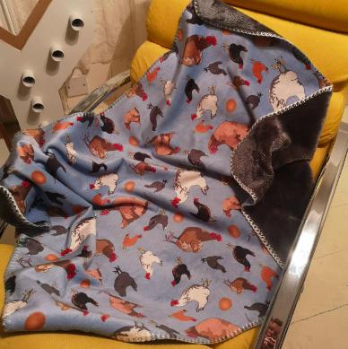 Chicken Gang Sherpa Blanket