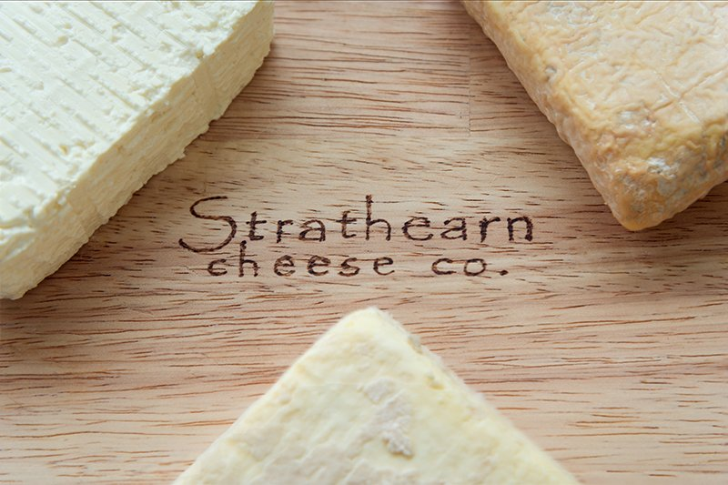 Young, half and matured Strathearn cheese