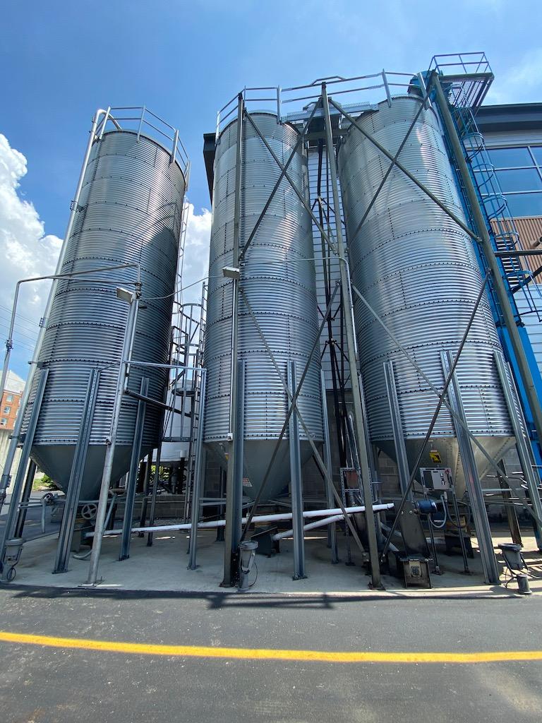 Grain Silos - New Riff Distilling Distillery
