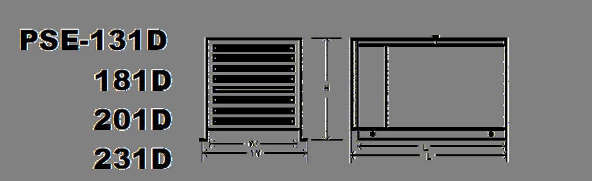 131D-231D Specs Diagram
