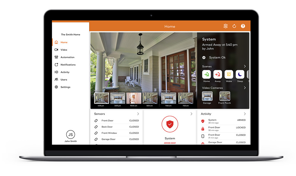 Home Video Surveillance on Laptop