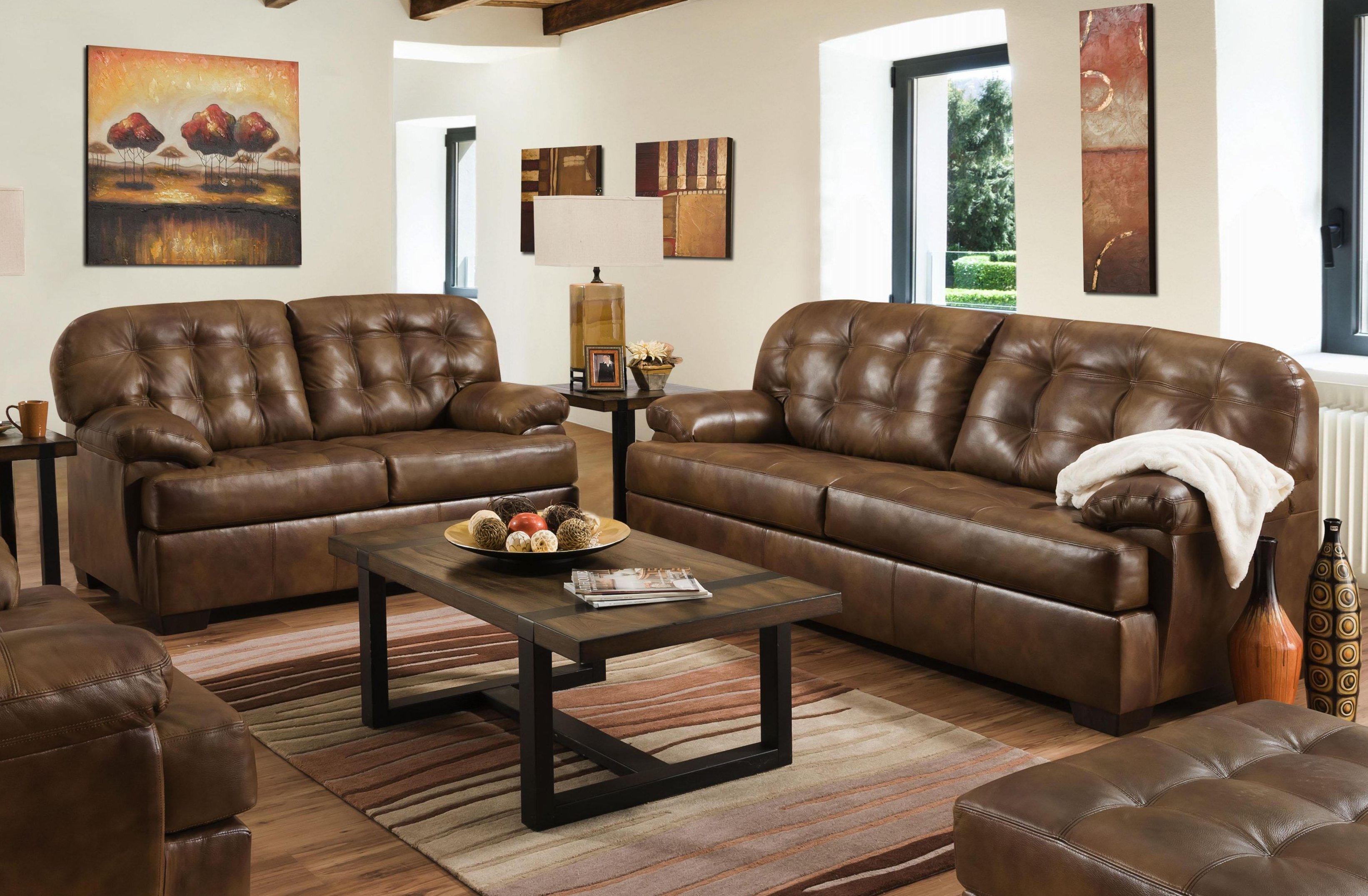 12037 Chaps Leather Sofa & Loveseat Set