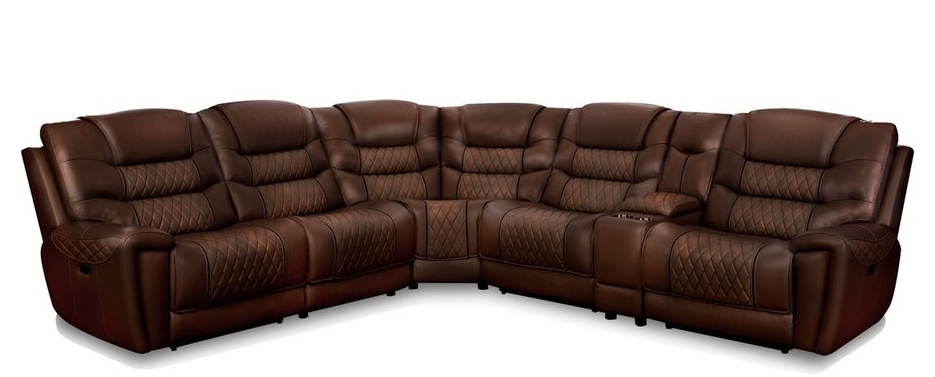 98801 Brown and Tobacco Sectional